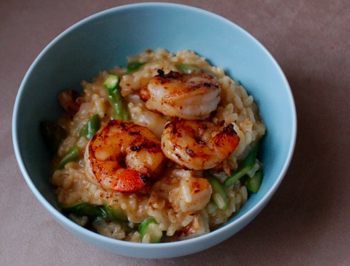 Shrimp and Asparagus Risotto | The Second Lunch