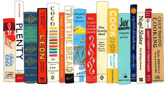 hand painted bookshelf