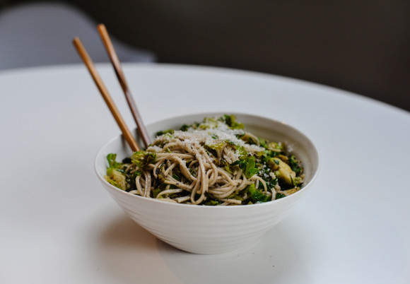 Soba Noodles with Brussels Sprouts