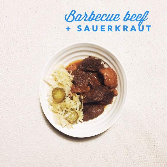 Barbecue Beef with Sauerkraut