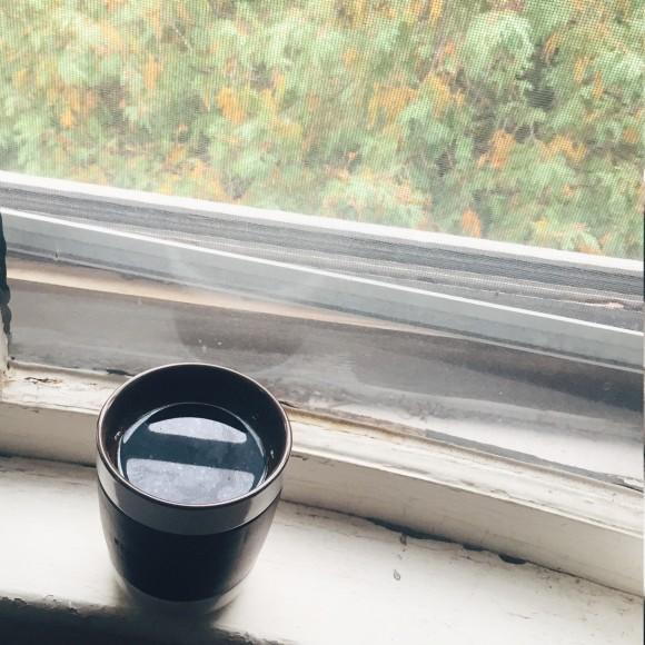 Fall morning coffee