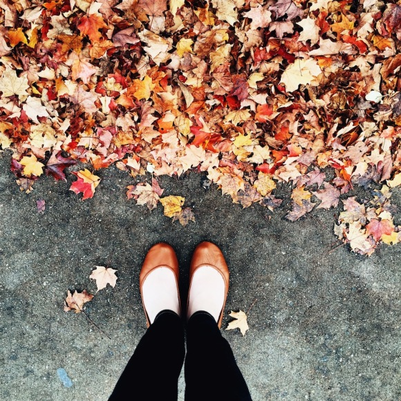 Fall leaves and Tieks