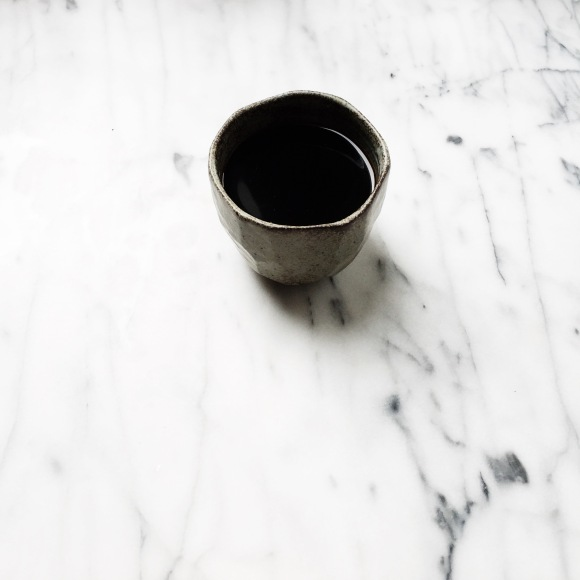 Morning Black Coffee in Muji Cup