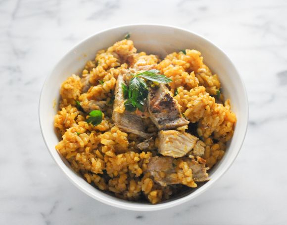 Baked Pumpkin Risotto with Chicken