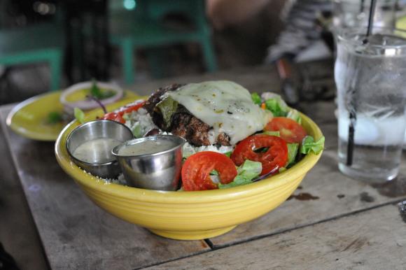 Chile Burger Salad at Barnabys