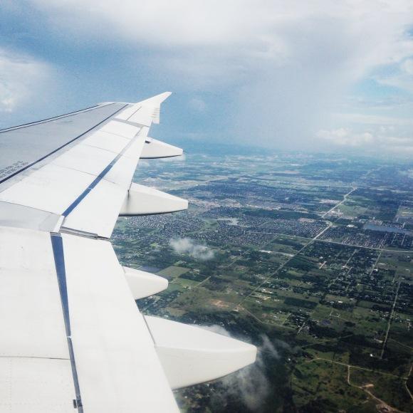 Flying into Houston Texas