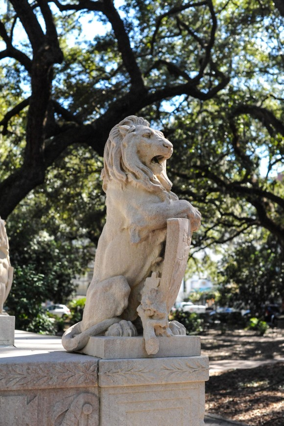 Lion Statue Savannah