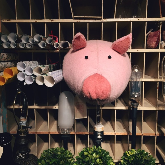 PIgs at Paris Market
