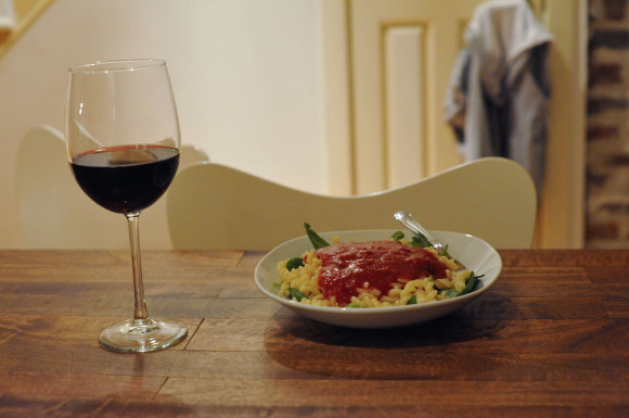 Pasta with Marinara and Wine