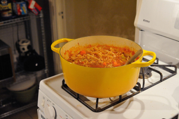 Pot of Pasta e Fagioli