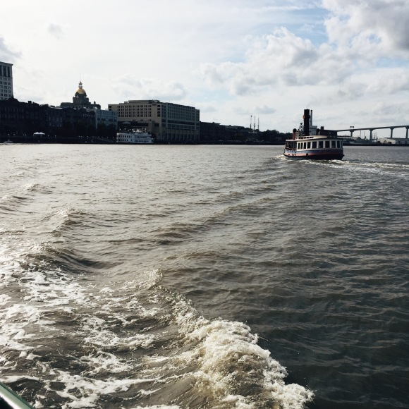 Taking the Ferry in Savannah