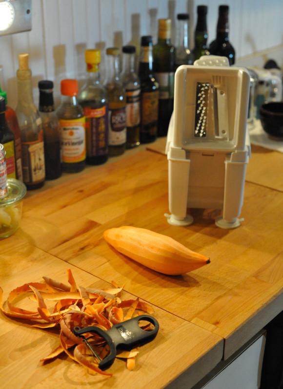 Spiralized Sweet Potato with the Paderno Spiralizer