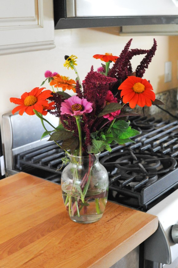 Stearns Farm CSA Flowers in New Kitchen