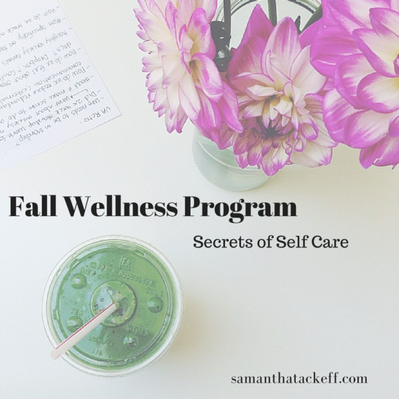 tackeff 6 week fall wellness coaching program