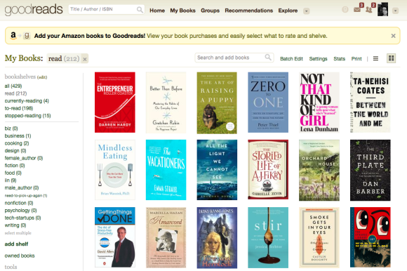Goodreads Shelves