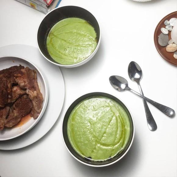 Nigella Lawson Minty Pea and Broccoli Soup