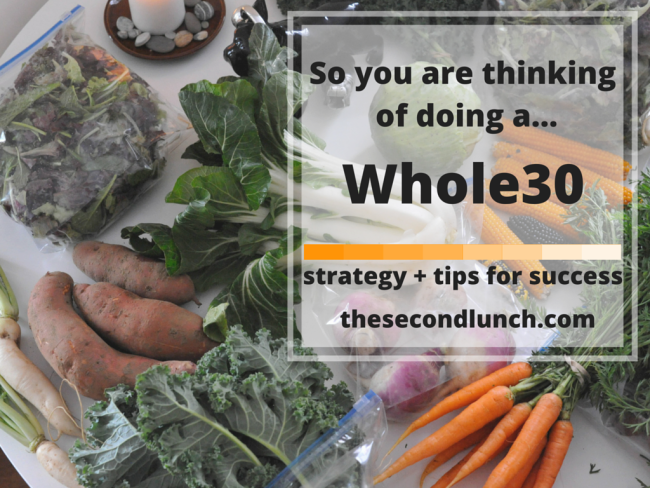So you are thinking of doing... a Whole30