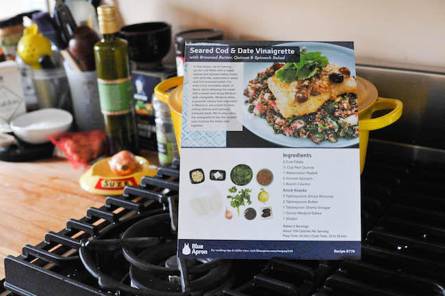 Blue Apron Recipe Card The Second Lunch