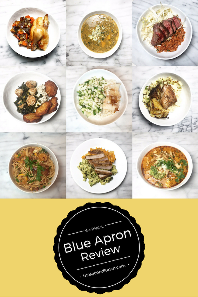 Blue Apron Review The Second Lunch