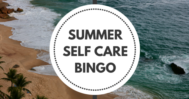 Summer Self Care Bingo