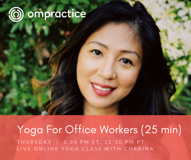 Ompractice Yoga for Office Workers with Charina