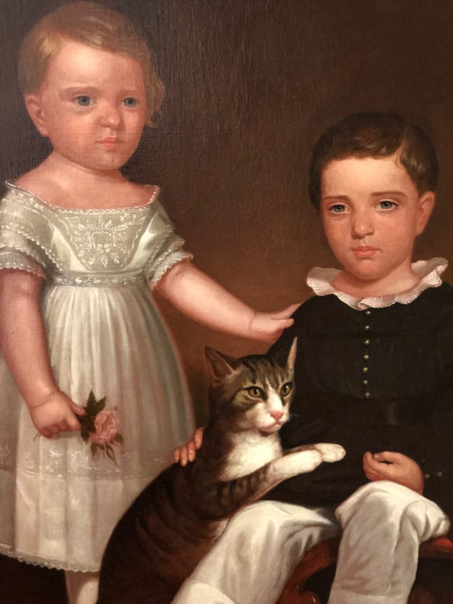 the second lunch jackson homestead children with cat