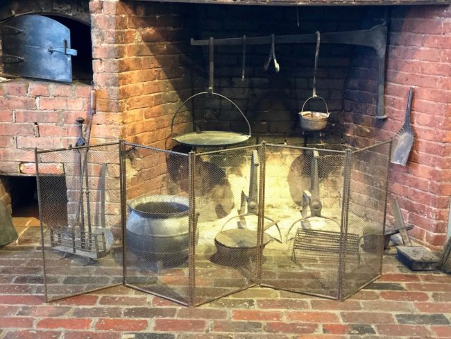 the second lunch newton jackson homestead fireplace kitchen
