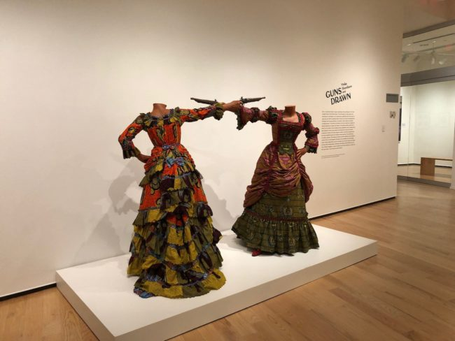 the second lunch the davis museum yinka shonibare guns drawn