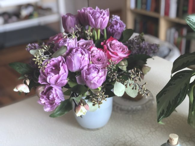the second lunch winston flowers delivery purple flowers