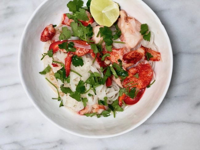 the second lunch lobster vietnamese rice noodles